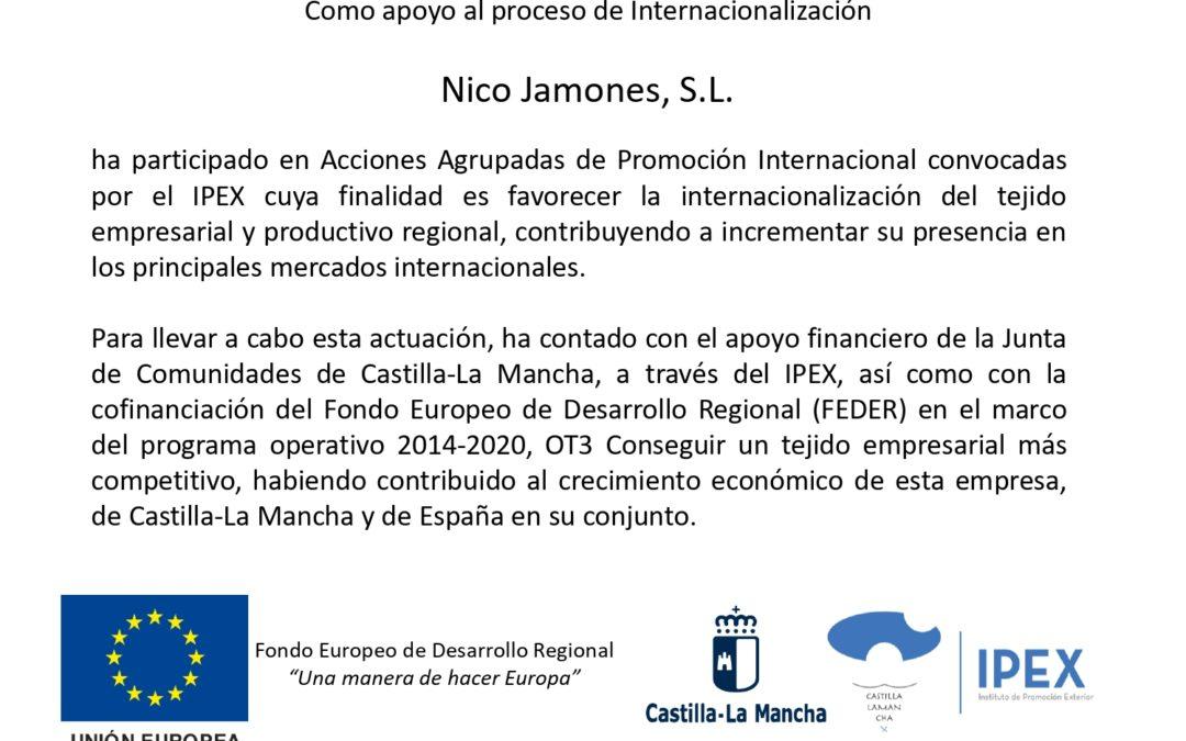 Participación de NICO Jamones en ANUGA Acciones Agrupadas de Promoción Internacional