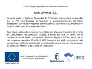Internacionalización NICO Jamones